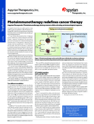 Photoimmunotherapy redefines cancer therapy